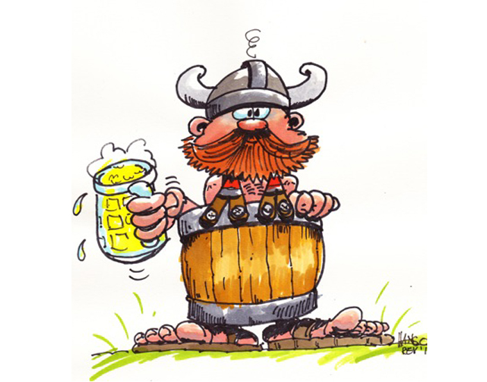 Hans van Bavel Cartoons Viking