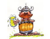Hans van Bavel Cartoons - Viking